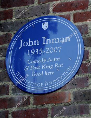The Heritage Foundation Unvail A Blue Plaque To Actor John Inman In Maida Vale London. 10.2.08