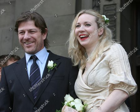 Stock Photo of Sean Bean's Wedding To Georgina Sutcliffe At Marylebone Registery Office In London Today