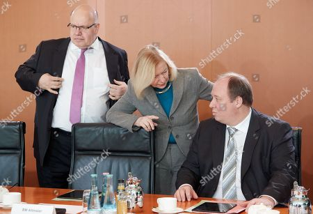 Editorial photo of Cabinet meeting at the Chancellery in Berlin, Germany - 21 Feb 2018