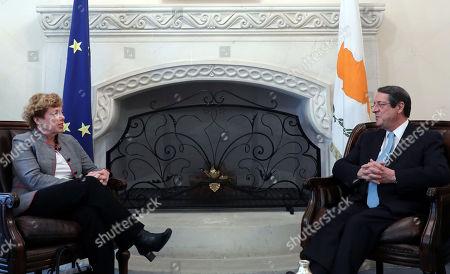 Editorial image of US Ambassador to Cyprus meets with President of Cyprus Nikos Anastasiades, Nicosia - 21 Feb 2018