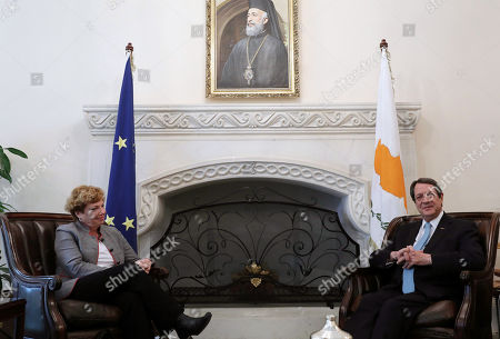 Editorial picture of US Ambassador to Cyprus meets with President of Cyprus Nikos Anastasiades, Nicosia - 21 Feb 2018