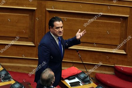 Editorial picture of Greek Parliament debate on a preliminary investigation commission for the Novartis case, Athens, Greece - 21 Feb 2018