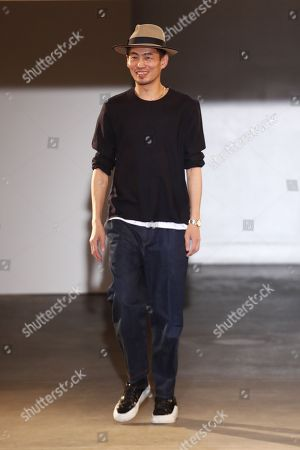 Stock Photo of Han Chong on the catwalk