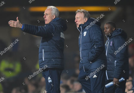 Ipswich Town Manager Mick McCarthy and Cardiff City manager Neil Warnock