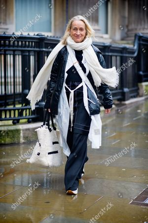 Stock Picture of lucinda Chambers Erdem at the National Gallery, Charing Cross Road,  London Fashion Week. FW18, LFW.