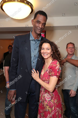 Stock Photo of Ralph Sampson and Patrice Ablack