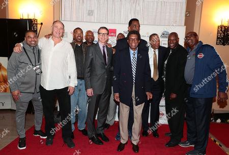 Eldridge Recasner, Rick Darnell - President NBRPA Los Angeles Chapter, Larry Spriggs, David Cooke, Kiki VanDeWeghe - EVP NBA Basketball Operations, Elgin Baylor, Ralph Sampson, Jamaal Wilkes and Major Jones