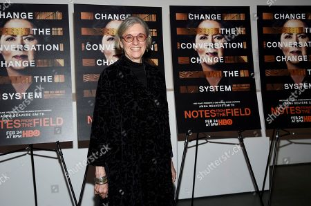 "Director Kristi Zea attends a special screening of HBO Films' ""Notes From The Field"" at the Museum of Modern Art, in New York"