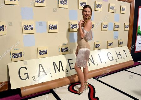 """Natasha Hall arrives at the world premiere of """"Game Night"""" at the TCL Chinese Theatre, in Los Angeles"""