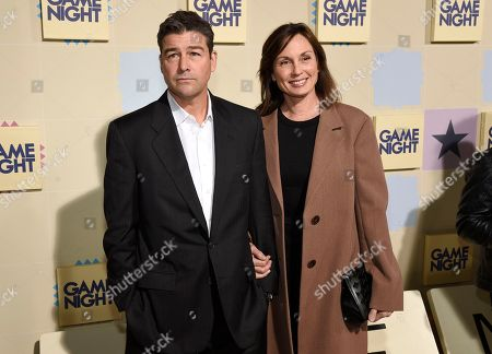 "Stock Photo of Kyle Chandler, Kathryn Chandler. Kyle Chandler, left, and Kathryn Chandler arrive at the world premiere of ""Game Night"" at the TCL Chinese Theatre, in Los Angeles"