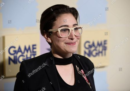 """Gaby Dunn arrives at the world premiere of """"Game Night"""" at the TCL Chinese Theatre, in Los Angeles"""