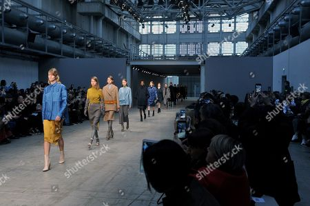 Stock Image of Models on the catwalk