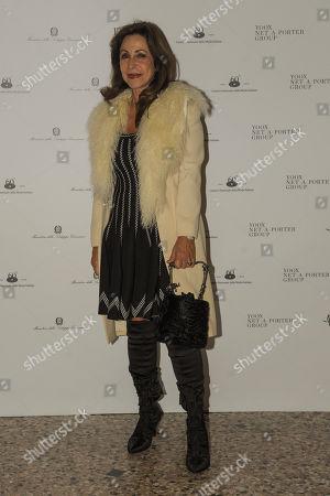 "Milan, 21/02/2018 Milan Woman's Fashion Week fall winter 2019. Milano Moda Donna, autumn winter 2019. Guests at the exhibition ""Italian - Italy seen by fashion"" In the photo: Marta Brivio Sforza"