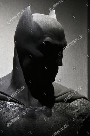 Batman costume worn by Ben Affleck in Batman v Superman, Dawn of Justice, 2016, designed by Michael Wilkinson
