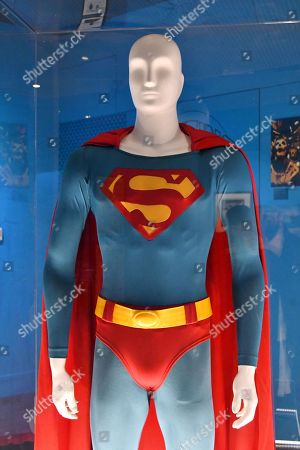 Superman. Costume worn by Christopher Reeve in Superman, 1978