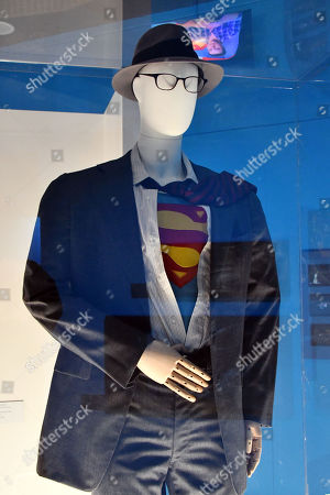 Clark Kent / Superman costume worn by Christopher Reeve in Superman II, 1980, designed by Yvonne Blake & Susan Yelland