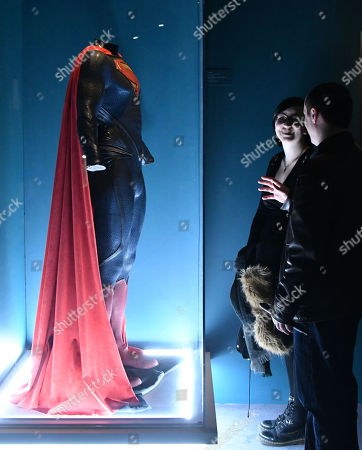 Editorial image of 'DC Exhibition: Dawn of Super Heroes' Exhibition photocall, The O2 Arena, London, UK - 22 Feb 2018