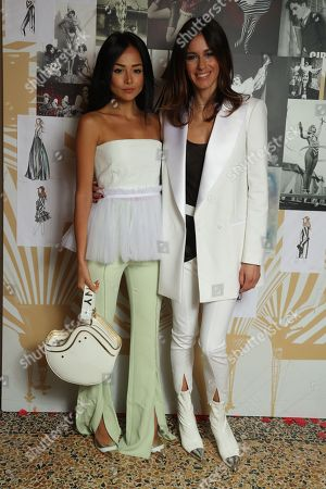Models and Sara Cavazza Facchini backstage Models and Sara Cavazza Facchini backstage