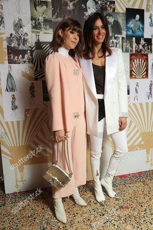 Models and Sara Cavazza Facchini backstage