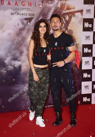Indian film actor Tiger Shroff and Actress Disha Patani