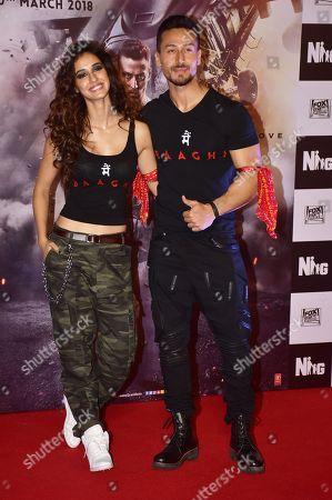 Stock Photo of Indian film actor Tiger Shroff and Actress Disha Patani