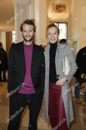 Stock Picture of Katja Flint and Sohn Oscar Lauterbach