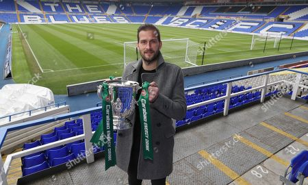 Former Birmingham City player Roger Johnson at the Carabao Cup Trophy Relay at St Andrews, Birmingham