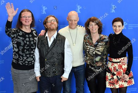 (L-R) Actors Hanna Hofmann, Seani Love, Tomas Lemarquis, Laura Benson and Irmena Chichikova pose during a photocall for 'Touch me not' at the 68th annual Berlin International Film Festival (Berlinale), in Berlin, Germany, 22 February 2018. The Berlinale runs from 15 to 25 February.