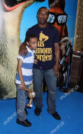 Ashley Walters with Son