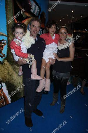 Donal MacIntyre, wife Ameera De La Rosa and family
