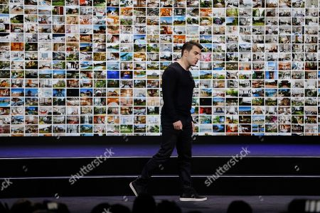 Airbnb co-founder and CEO Brian Chesky during an event, in San Francisco