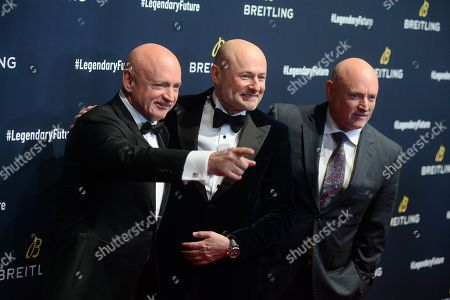 Scott Kelly, Georges Kern and Mark Kelly