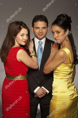 'The British Soap Awards'  TV - 2009 -  Lacey Turner, Ryan Thomas and Seeta Indrani