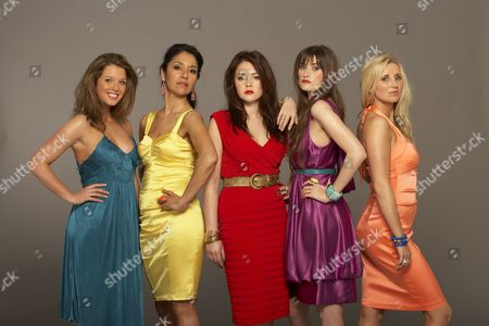 'The British Soap Awards'  TV - 2009 -  Helen Flanagan, Seeta Indrani, Lacey Turner, Charley Webb and Carley Stenson.
