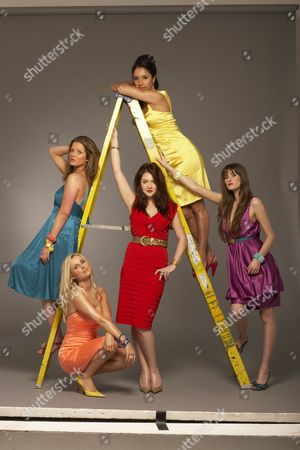 'The British Soap Awards'  TV - 2009 -  Helen Flanagan, Carley Stenson, Lacey Turner, Seeta Indrani and Charley Webb.