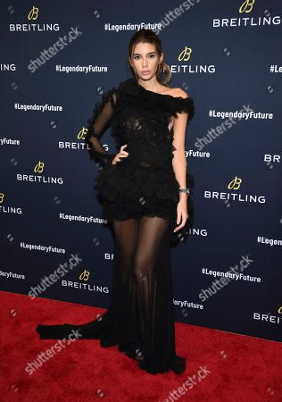 Stock Photo of Model Cindy Mello attends the Breitling Global Roadshow event at The Duggal Greenhouse, in New York