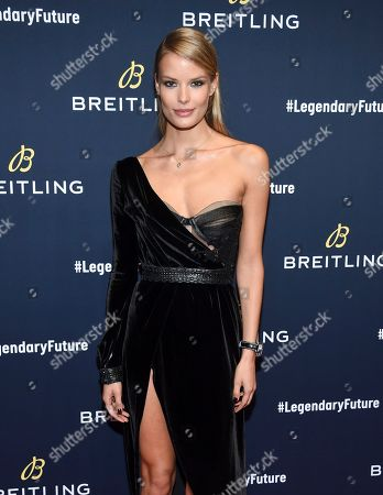 Model Alena Blohm attends the Breitling Global Roadshow event at The Duggal Greenhouse, in New York