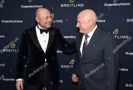 Georges Kern, Scott Kelly. Breitling CEO Georges Kern, left, and astronaut Scott Kelly attend the Breitling Global Roadshow event at The Duggal Greenhouse, in New York