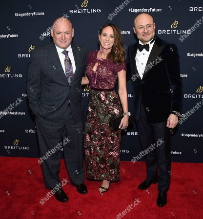 Scott Kelly, Amiko Kauderer, Georges Kern. Scott Kelly, left, Amiko Kauderer and Georges Kern attend the Breitling Global Roadshow event at The Duggal Greenhouse, in New York