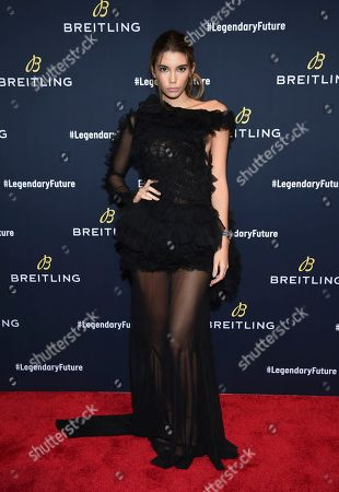 Model Cindy Mello attends the Breitling Global Roadshow event at The Duggal Greenhouse, in New York