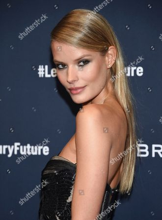 Stock Photo of Model Alena Blohm attends the Breitling Global Roadshow event at The Duggal Greenhouse, in New York