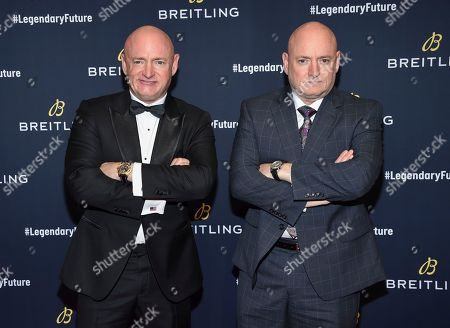 Mark Kelly, Scott Kelly. Astronauts Mark Kelly, left, and Scott Kelly attend the Breitling Global Roadshow event at The Duggal Greenhouse, in New York