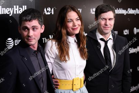 "Logan Lerman, Michelle Monaghan, Shawn Christensen. Logan Lerman, from left, Michelle Monaghan and Shawn Christensen arrive at the Los Angeles premiere of ""The Vanishing of Sidney Hall"" at the ArcLight Hollywood on"
