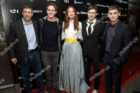 "Kyle Chandler, Blake Jenner, Michelle Monaghan, Shawn Christensen, Logan Lerman. Kyle Chandler, from left, Blake Jenner, Michelle Monaghan, Shawn Christensen and Logan Lerman arrive at the Los Angeles premiere of ""The Vanishing of Sidney Hall"" at the ArcLight Hollywood on"
