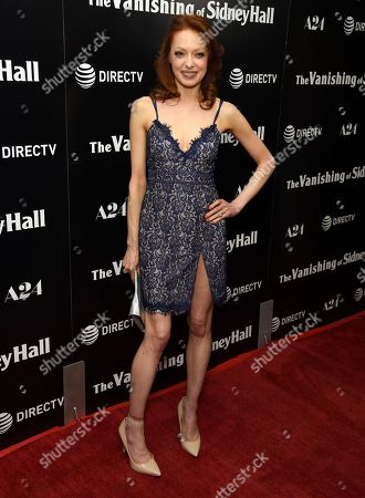 """Elizabeth J. Carlisle arrives at the Los Angeles premiere of """"The Vanishing of Sidney Hall"""" at the ArcLight Hollywood on"""