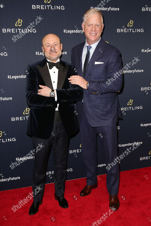 Georges Kern (CEO; Breitling) and Boomer Esiason