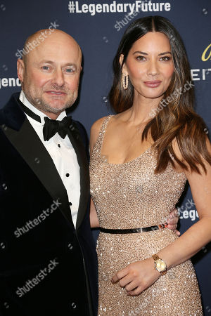 Georges Kern (CEO; Breitling) and Olivia Munn