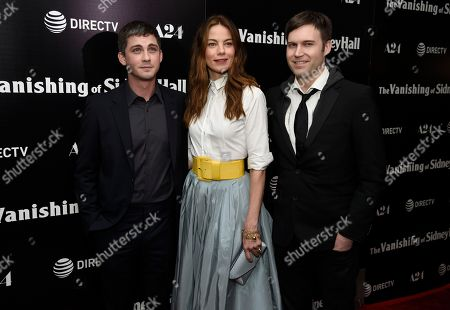"Stock Photo of Logan Lerman, Michelle Monaghan, Shawn Christensen. Logan Lerman, from left, Michelle Monaghan and director Shawn Christensen arrive at the Los Angeles premiere of ""The Vanishing of Sidney Hall"" at the ArcLight Hollywood on"