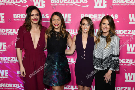 "Desiree Hartsock, Deanna Pappas, Ashley Hebert Rosenbaum, Trista Sutter. Desiree Hartsock, left, Deanna Pappas, Ashley Hebert and Trista Sutter attend WE TV's ""Bridezillas"" Season 11 premiere party at Arena, in New York"