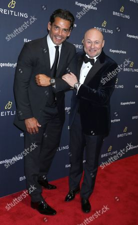 Stock Picture of Cristian de la Fuente and Georges Kern, Breitling CEO